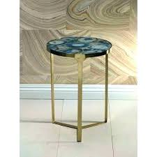 old world market table runner coffee side metal arrow end inch high la blue agate mosaic world market table
