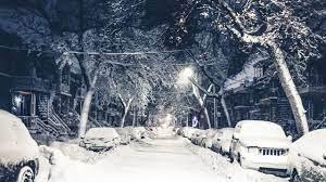 New York, winter, 4k, 5k, snow, street ...