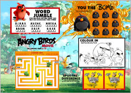 Small Picture The Angry Birds Movie Trailer Coloring Pages Activity Sheets