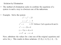 6 solution by elimination the method