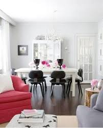 white dining room with black chairs pink flowers for a pop of color bazaar samantha pynn interiors home decor and interior decorating ideas