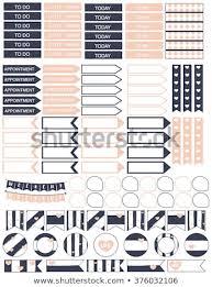 Planner Stickers Printable Planner Stickers Diy Stock Vector