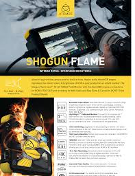 Atomos Comparison Chart Shogun Flame Fusion Cine Manualzz Com