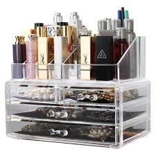acrylic cosmetic rack make up storage box 4 drawer jewelery organiser 8804 2