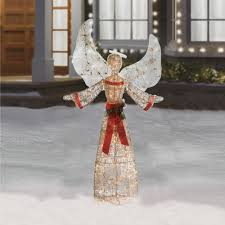 incredible design ideas lighted outdoor angels animated angel with trumpet tr