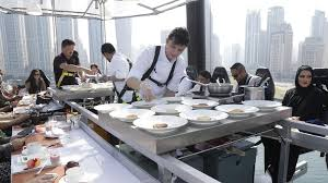 Dinner In The Sky What Its Like To Dangle 50m In The Air At A