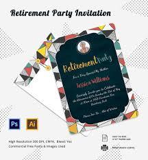 retirement invitation template 15 psd vector eps ai printable retirement party invitation template