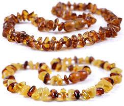 2 pieces cognac cognac lemon white baltic amber teething necklace