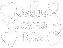 Jesus Loves Me Coloring Pages Printables Avusturyavizesiinfo