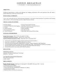 Radiologic Technologist Resume Examples Inspiration Radiology Technologist Resume Sample Resume X Ray Technician