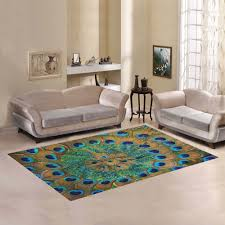 carpet floor living room. d-story sweet home art floor decor peacock feather area rug carpet 7 living room