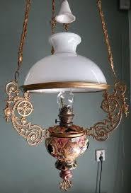 majolica lamp antique majolica hanging oil lamp chandelier kerosene electric option beaded fringe majolica table lamp