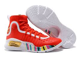 under armour shoes red and white. 2017 under armour curry 4 rocket red aluminum black for sale shoes and white e