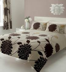 33 valuable inspiration brown and white duvet cover cream covers sweetgalas intended for double cream brown flower print bedding double duvet quilt cover