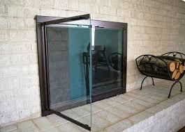 replacement glass fireplace doors fireplace glass doors home depot