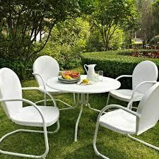 white patio dining set 5 piece table 4