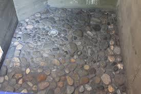 contemporary shower riverrockshowerfloorgentlymassagesfeet2285669 for river rock tile shower floor t