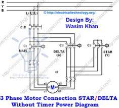 two speeds two directions motor control power diagram 3 phase motor connection star delta out timer power diagrams