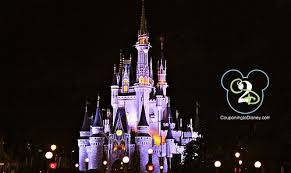 castle at night couponing to disney
