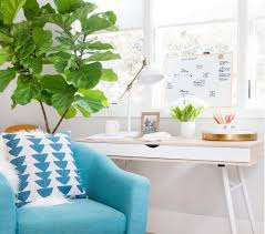 workspace decor ideas home comfortable home. a bright blue comfortable chair adds nice pop to this workspace decor ideas home