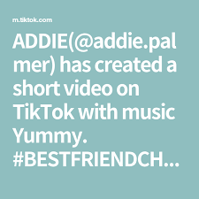 ADDIE(@addie.palmer) has created a short video on TikTok with music Yummy.  #BESTFRIENDCHECK pt2 @ur_girl_sisi ♈️♉️♍️♒️♉️#Partytime… in 2020   The  creator, Let it be, Coding