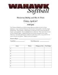 sponsorship forms for fundraising hit a thon form template coaching aids fastpitch pinterest