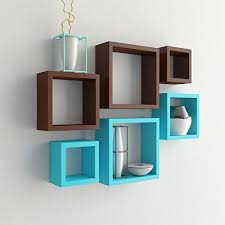 Image Decor Ideas Set Of Nesting Square Floating Wall Shelves For Storage Display Brown Sky Blue Pinterest Set Of Nesting Square Wall Decor Shelves Brown Sky Blue