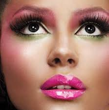 i don t care what guys think about bright makeup i love the green and pink in this photo i want to branch out and do cool things with my makeup