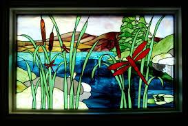 image of stained glass image of stained glass window panels