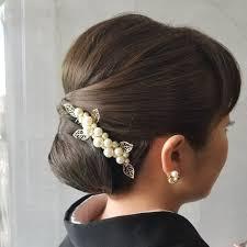 結婚式参列 留め袖 和服ヘアセット J A P A N2019 黒留袖 髪型