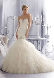 crystal beaded lace with ruffles wedding dress style 2685 morilee Wedding Dress With Hoop morilee bridal crystal beading trims alencon lace with laser cut organza ruffles wedding dress wedding dresses with hoods