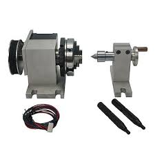 CNC Rotary Axis <b>Chuck 65mm Activity Tailstock</b> 4th Axis for CNC ...