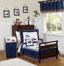 red white and blue vintage aviator airplane toddler bedding 5 pc set only 99 99