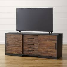 Reclaimed Media Cabinet Furniture Reclaimed Wood Media Center Tv Stand With Baskets