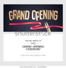 Grand Opening Invitations Grand Opening Vector Banner Illustration Invitation Stock