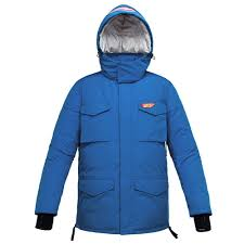 """Blue Hand Warmer Down Padded Jacket   """"For more <b>fun life</b>"""""""