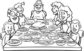 turkey dinner clipart black and white. Brilliant White Dinner Table Clip Art Black And White Family At Inside Turkey Clipart L
