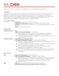 Engineering Skills Resume Professional Entry Level Software Engineer Templates To