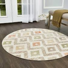 melrose modern geometric ivory orange area rug by home dynamix 7 10 round