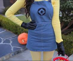 the minion s hair is made of black pipe cleaners that poke out of the top of the beanie the goggles consist of pvc pipe spray painted silver with an
