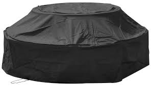 woodside 6 seater round picnic table cover black