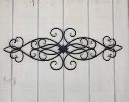 iron wall art. Iron Wall Decor / Metal Cabin Scroll Wrought Swirls Home Black Headboard Art