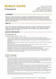resume contractor it contractor resume samples qwikresume