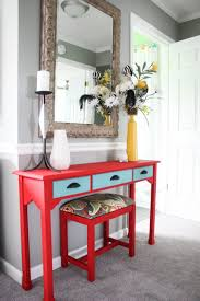 painted console table. Console Table Img Painted Tables And Bench Makeover Re Chalk Upholstered Lucite Entryway Cabinet
