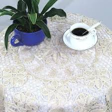 54 inch round tablecloth cotton lace beige handmade pretty past table cover vinyl tablecloths x 108