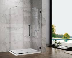 china sally 10mm frameless wall mounted hinge glass shower door with matte black finish hardware enclosure china shower enclosure shower door