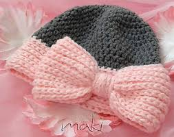 Baby Hat Crochet Pattern Extraordinary Ravelry BIG BOW Baby Hat Pattern By MakiCrochet
