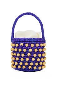 Beaded Bag Designer Beaded Straw Bucket Bag
