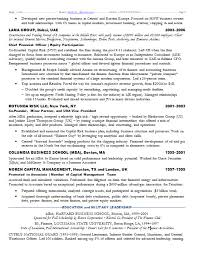 Resume Samples Chief Investment Officer Bank Hnw