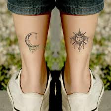 водонепроницаемая временная татуировка наклейка солнце луна